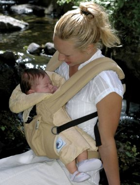 how to wear ergo baby carrier with infant insert