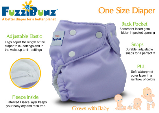 FuzziBunz One Size Diaper - New Colors!