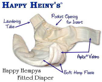 Happy Hempy's Fleece-Lined Fitted Diaper